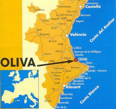Oliva Spain and Playa de Piles