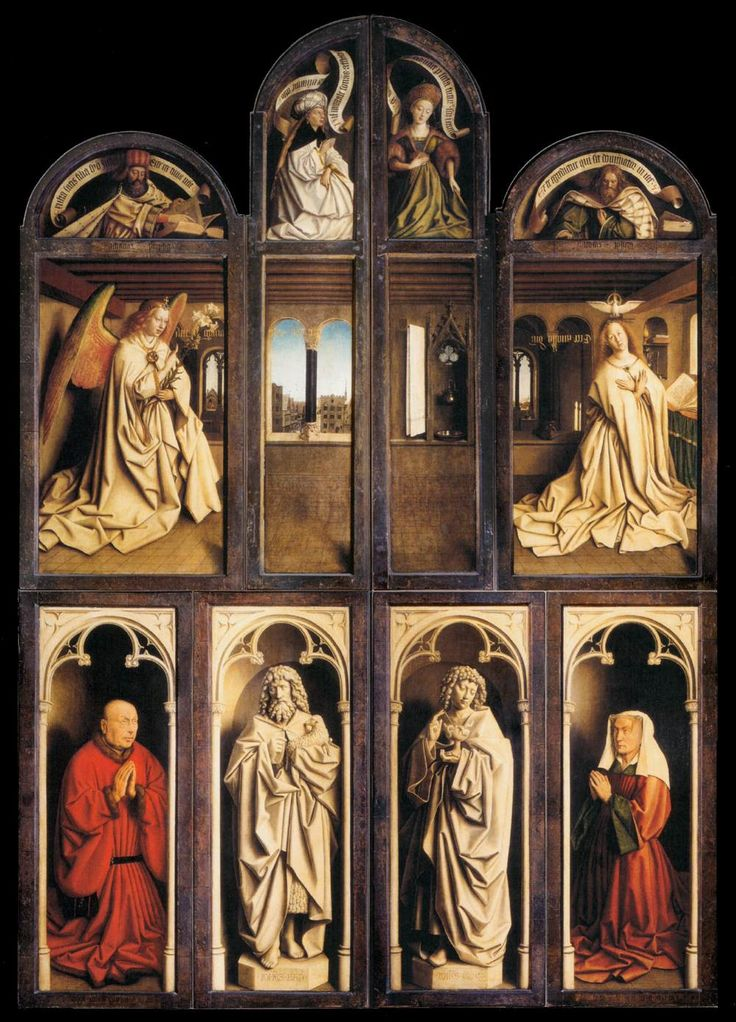 Hubert and Jan van Eyck, The Ghent Altarpiece (wings closed), 1432 | WikiCommons