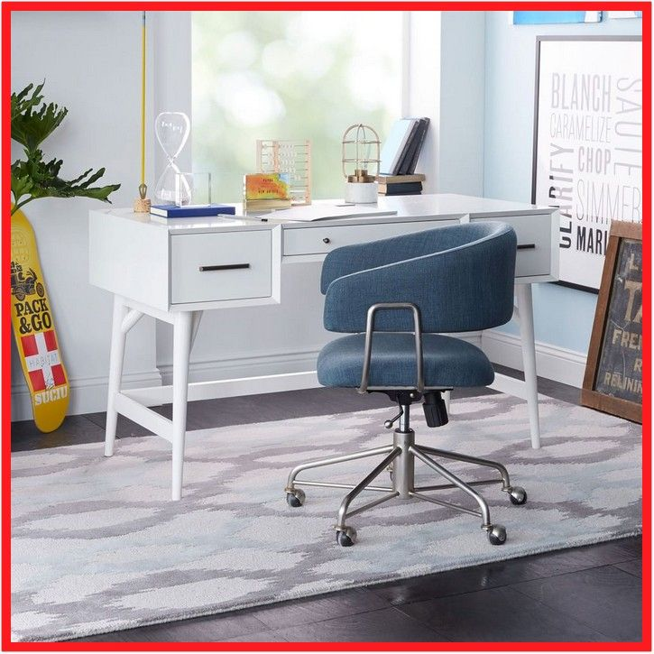 56 Reference Of Mid Century Desk Chair West Elm In 2020 Mid Century Desk Chair Mid Century Desk White Mid Century Desk