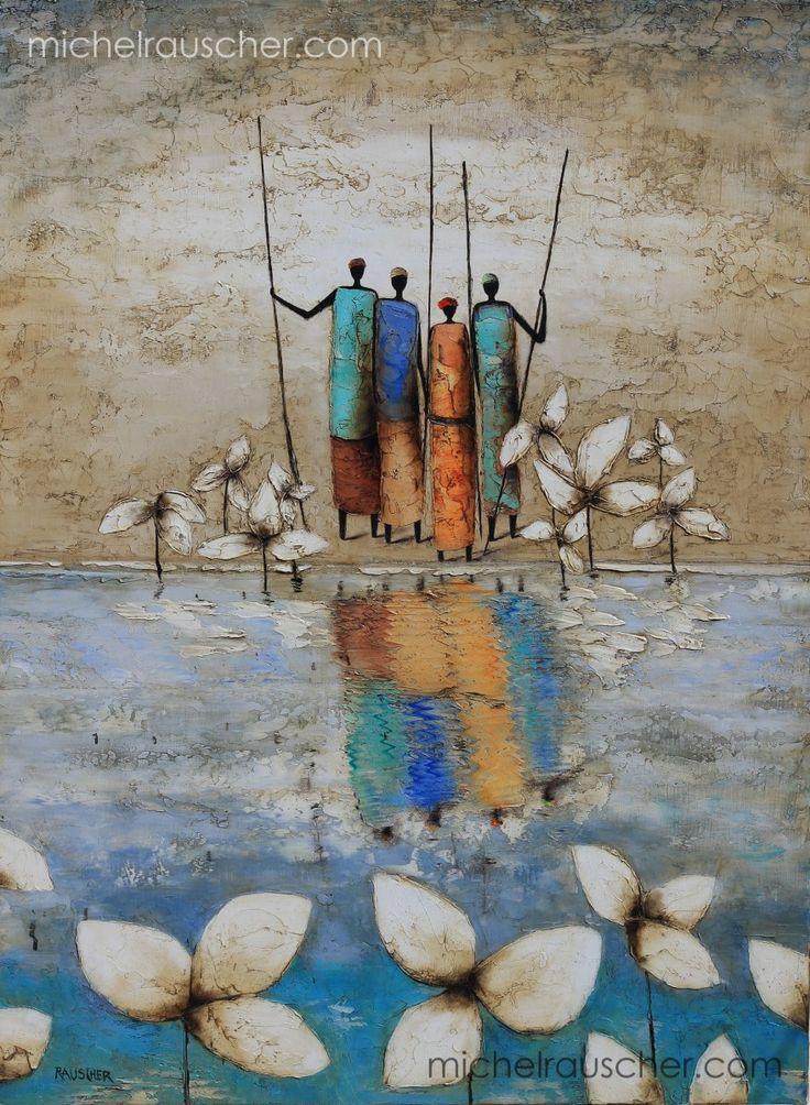 Michel RAUSCHER | Peintures - Huile sur toile - Sans titre