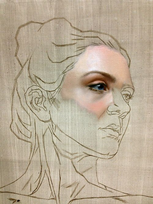 portrait painting in progress… oil on canvas. The reality able to be captured in oil paint continues to astound me