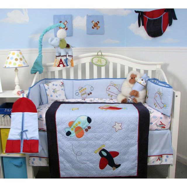 Airplane Crib Bedding Sets for Baby Boys | Cheap Crib Bedding Sets