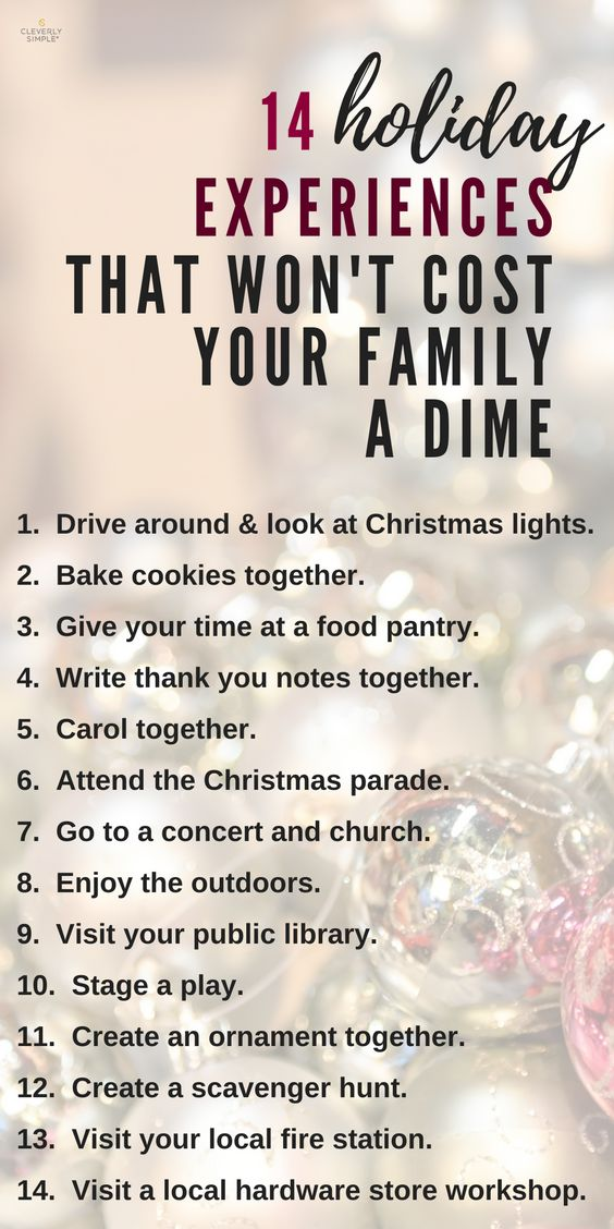 Do you like spending time together during the holidays?  Here's 14 holiday experiences you can do together as a family and they are free!  Totally keeping this list handy.  #ad #onup