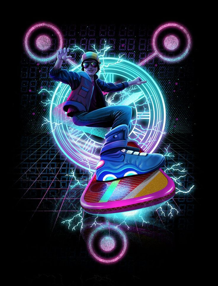 Hoverboard Takes Flight Collaboration With Vincent Trinidad For Backtothefuture Tshirt Design Challenge Threadless Please Vote 5 O