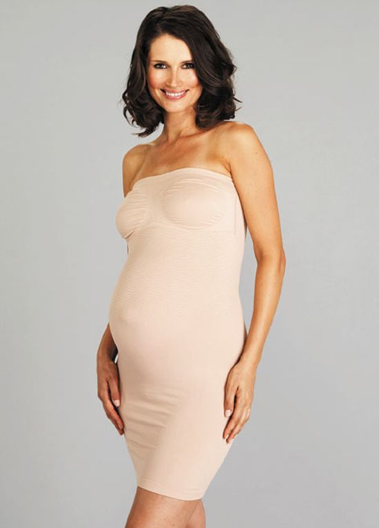Queen Bee Strapless Maternity Shapewear Slip Dress by Nearly Nude