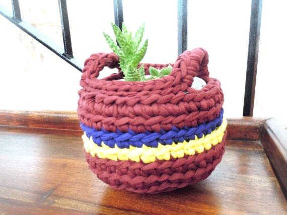 Cesta colecci n hogar hippie crochet accesorios for Accesorios decoracion hogar