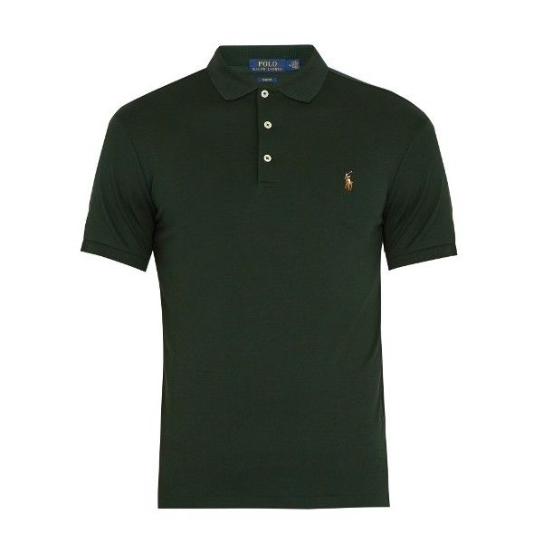 Polo Ralph Lauren Slim-fit pima-cotton polo shirt (310 BRL) ❤ liked on Polyvore featuring men's fashion, men's clothing, men's shirts, men's polos, green, mens green polo shirts, mens embroidered shirts, mens slim fit short sleeve shirts, mens slim fit shirts and mens short sleeve polo shirts