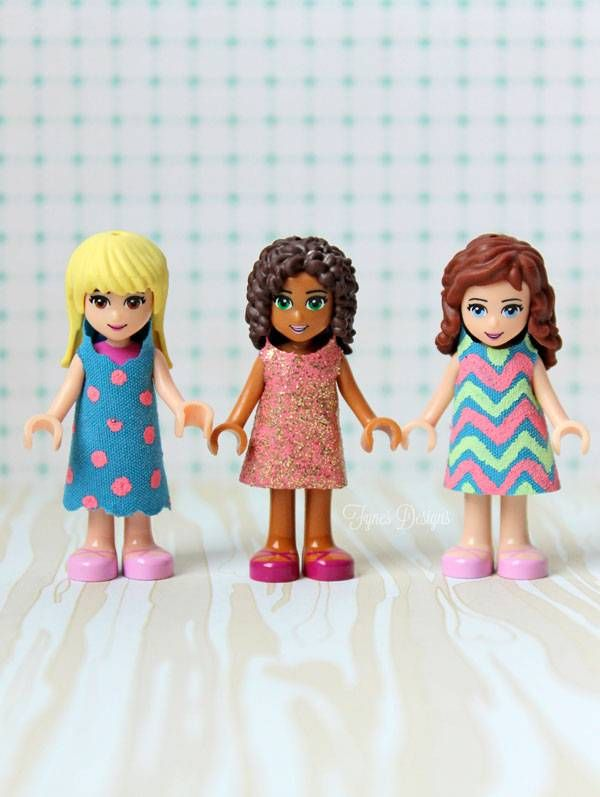 Des robes pour des Lego friends