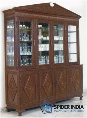 Teak Wood  carved  Cabinet in Mumbai-0