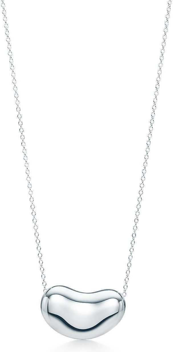 Tiffany & Co. Elsa Peretti Bean Pendant Necklace as seen on Scarlett Johansson