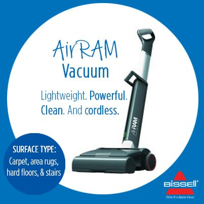 BISSELL AUSTRALIA - Find yourself tripping over cords and bending over to reach plugs? Lightweight, powerful, cordless = CLEAN. http://www.bisselloutletstore.com.au/airram.html