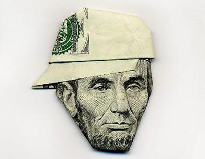 Money folding techniques.: Abraham Lincoln, Make Art, Gifts Ideas, Money Origami, Dollar Bill, Moneyorigami, Make Money Online, Money Art, Dollar Origami
