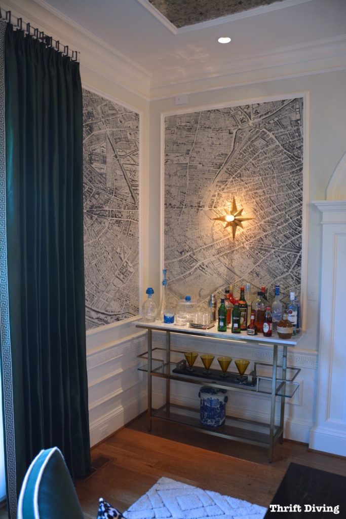 DC Design House Tour - DESIGN TIP - Frame wallpaper with simply molding