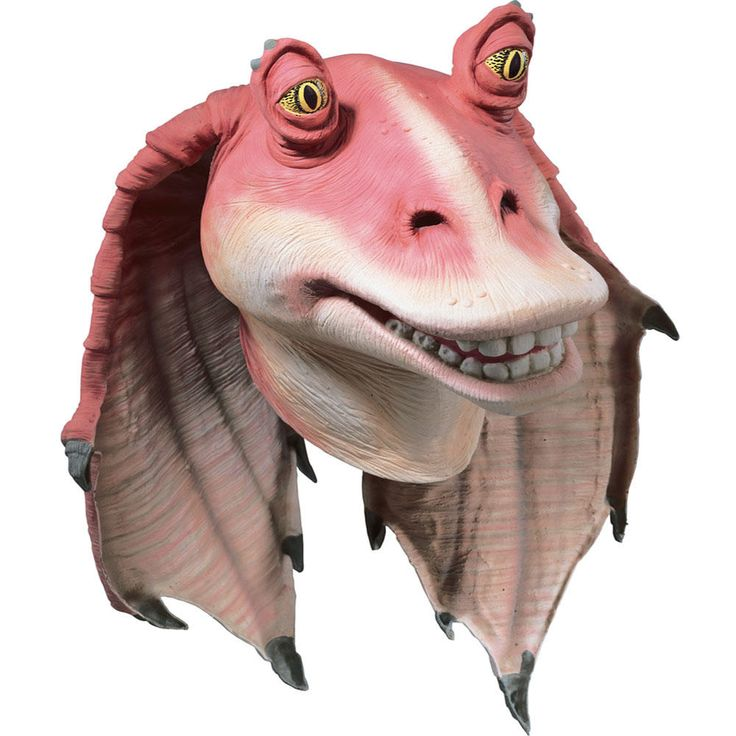 Adult-sized latex Jar Jar Binks mask