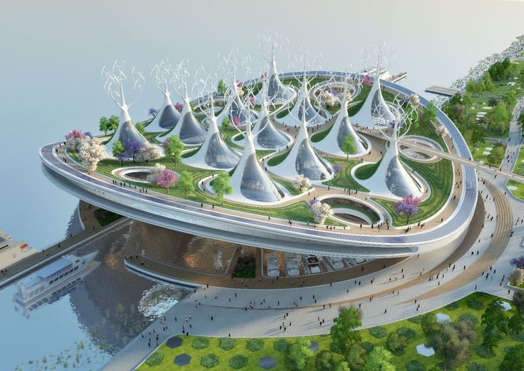 Vincent Callebaut Architectures, the firm behind Taipei's twisting tree-covered tower, has unveiled a novel new ferry terminal for Seoul, South Korea. If built, it would resemble a massive manta ray and be able to float in place to deal with seasonal flooding. It would also include some very ambitious sustainable technology, allowing it to produce all the energy it needs. #Architecture