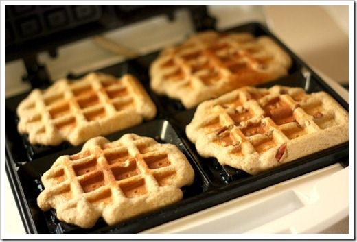 Paleo Waffles - Super healthy! Made this today. They were REALLY good and didn't taste healthy. I omitted the pumpkin pie spice (because I don't like it) and used a little cooking spray instead of coconut oil.