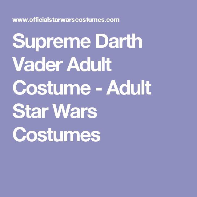 Supreme Darth Vader Adult Costume - Adult Star Wars Costumes