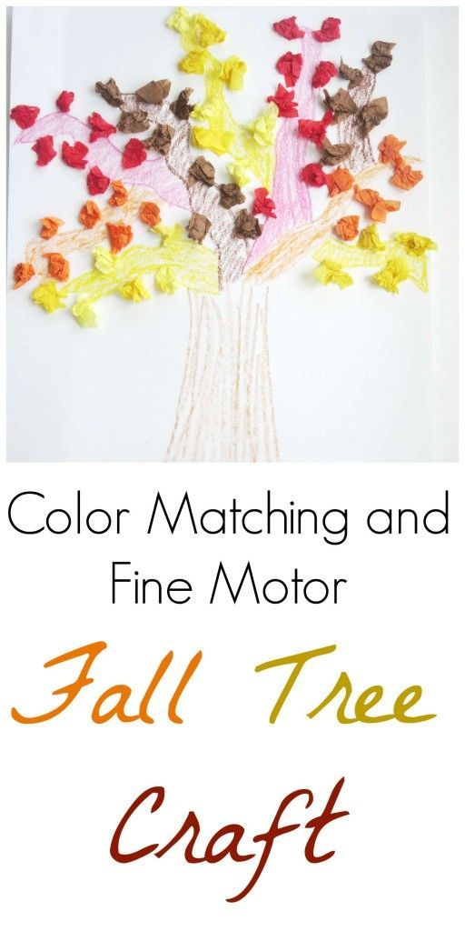 Working on fine motor skills this Autumn? Try this adorable color matching fall tree craft!
