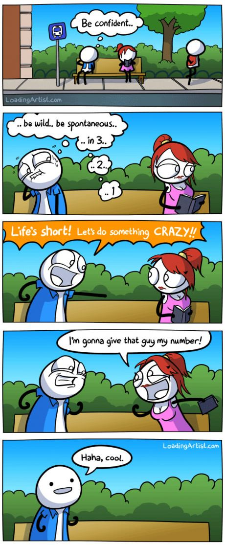 Be confident Funny cartoons, Funny comics, Funny pictures