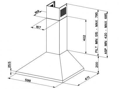 Coifa de Parede Franke Inox 60cm 3 Velocidades - Prática Cartesio com as melhores condições você encontra no Magazine Edisonmaciel. Confira!