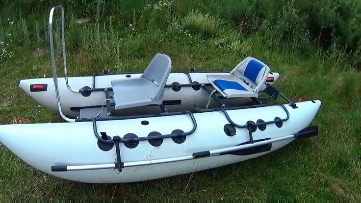 """Разборный двухместный катамаран S-390 Ондатра серый  Двухместный катамаран идеально подходит для сплавов в формате """"Инструктор + рыбак"""". Также доставит много приятных впечатлений при использовании не только как рыболовный катамаран, но и в водном туризме. Разборная рама катамарана выполнена из конструкционного алюминия. Комплектуется катамаран двойными баллонами, 2-ми сиденьями с поворотным механизмом, 2-мя парами весел, 2 сумки для аксессуаров, большой площадкой с поручнем для ловли стоя…"""