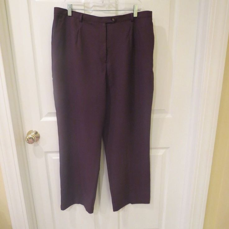 20-50% OFF GREAT ITEMS, CHECK THEM OUT NOW!!  Sag Harbor Plum Color Dress Pants Size 18 NWT, VERY NICE! #SagHarbor #DressPants