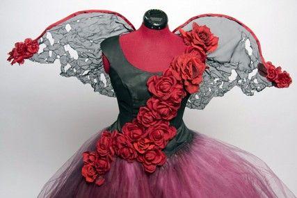 Tattered Rose Fairy Dress Costume - sur mesure