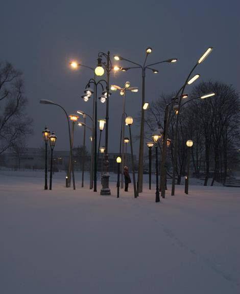 Street Lamp Forest; installation (2010) -Sonja Vordermaier