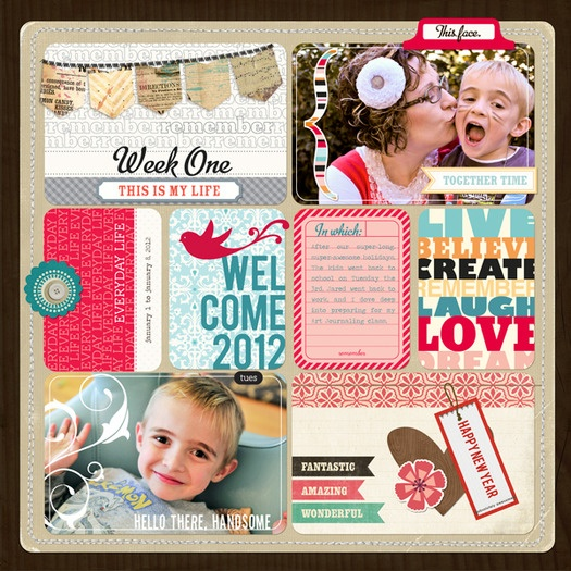 Project Life by Jessica Sprague - Love it.   Some really cute regular scrapbook pages also.