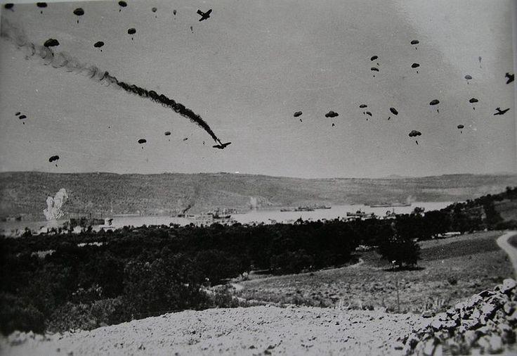 German paratroopers in Souda bay Crete
