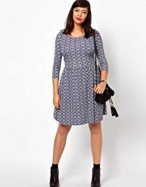 $24.94 ASOS Exclusive Skater Dress In Geo Print