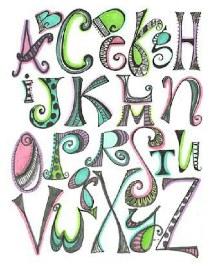 creative alphabet letters - 640×960