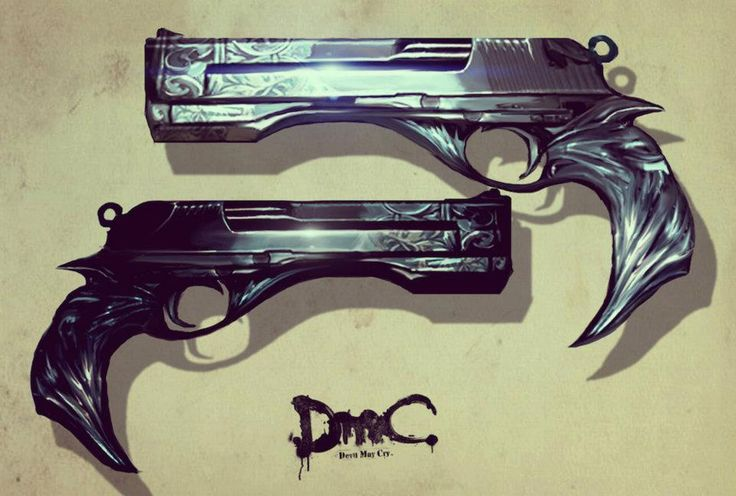 DMC: Devil May Cry Concept Art Dante's guns: Ebony & Ivory