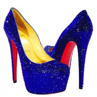 Christian Louboutin - Swarvoski Daffodile in royal    these would have been my DREAM GRADUATION SHOES ♥