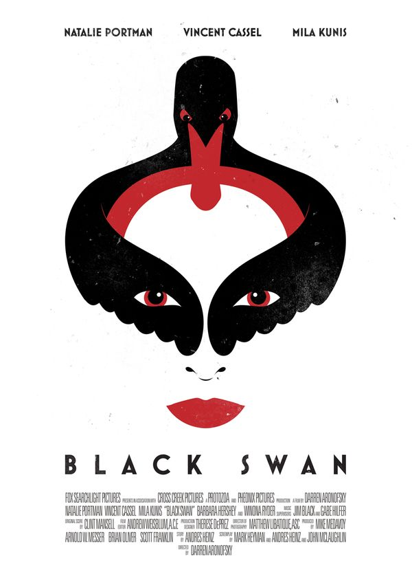 Black Swan [Darren Aronofsky, 2010] «Alternate Movie Posters Author: Tom Miatke»