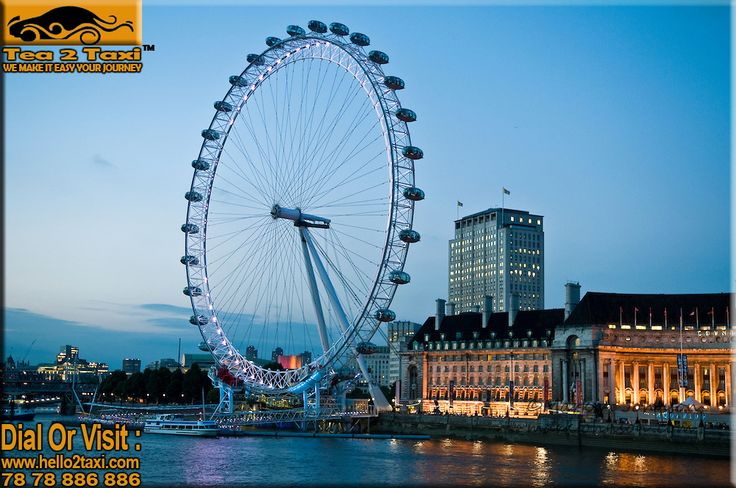 Dusk, London Eye - England..!! Tallest Ferris wheel In Europe..!! #Best #Taxi And #Driver #Service #Provider #Ahmedabad Call : 78-78-886-886/78-78-884-884, www.tea2taxi.com  For More Information #Click Here -http://tea2taxi.blogspot.in/…/london-eye-tallest-ferris-whe…