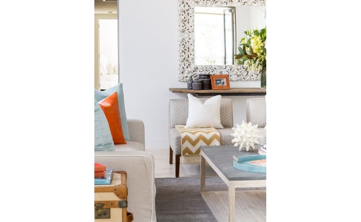 Coco Republic Property Styling take inspiration from the Hampton's to create a fresh and inviting interiors scheme #CocoRepublic #PropertyStyling #JonathanAdler #Oly #coastal