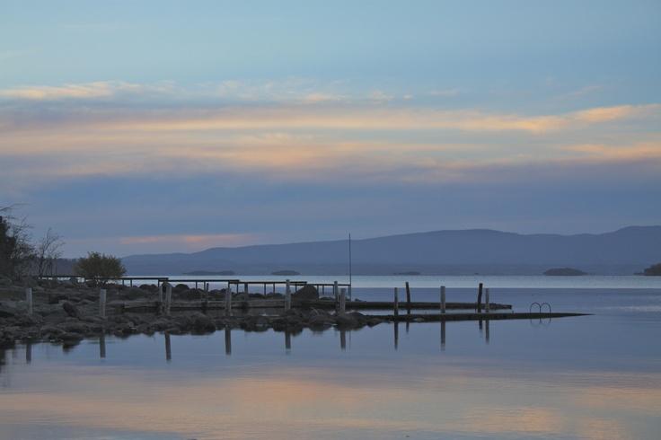 Autumn sunset at Lago Ranco, Chile.