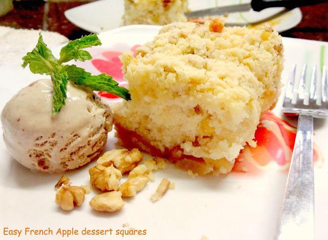 Easy French Apple dessert square