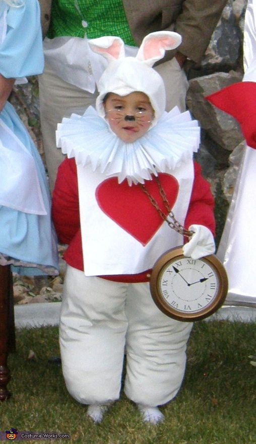 The White Rabbit. Alice in Wonderland - Homemade costumes for families. Charlie would be adorable!!