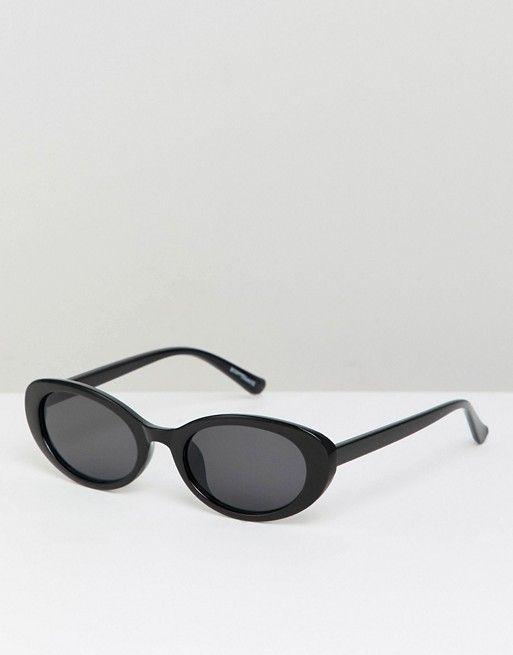 3c3747b4e4d7d0 Reclaimed Vintage Inspired Oversized Cat Eye Sunglasses In Black Kattenoog  Zonnebril