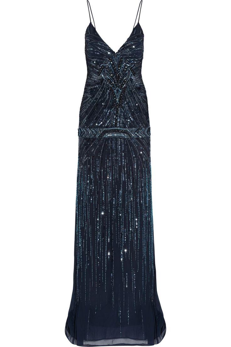 Roberto Cavalli - Embellished georgette gown