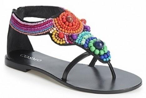 scarpe con perline