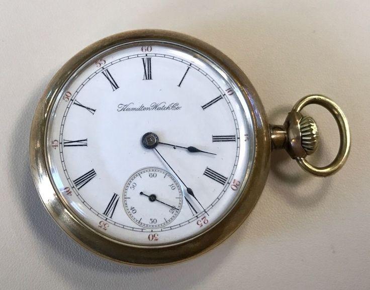 1899 Hamilton Watch Company Open Face Pocket Watch - Monitor Watch Case Company #Hamilton