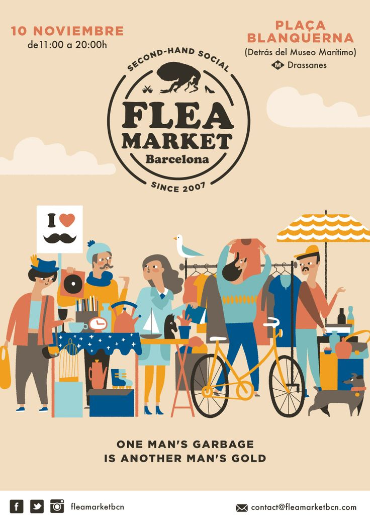 November Flea Market. Bea R Vaquero | My work | Pinterest ...