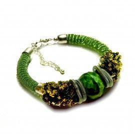 Branzoletka / Green Tyger eye bracelet [atelierminart] ->Zitolo.com