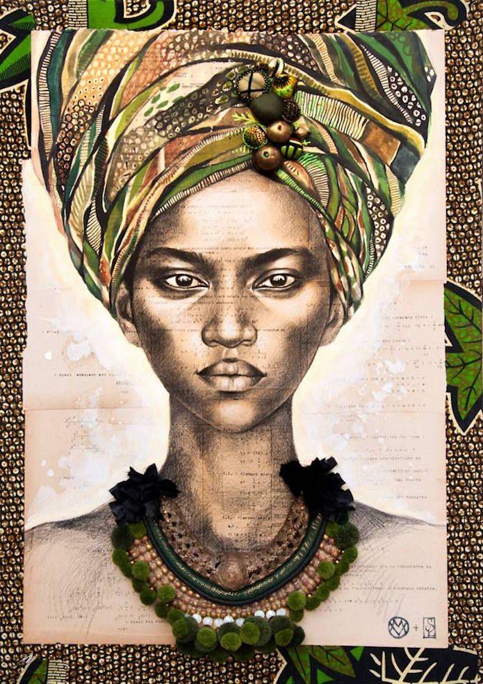 Ses Rencontres Du Bout Du Monde Elle Les Raconte Avec Un Crayon 28 Portraits Magnifiques Dessin Africain Art Africain Traditionnel Peinture Africaine