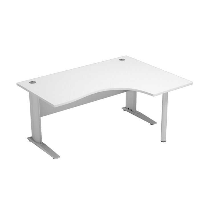 Unite White Corner Office Desk | Available As Either Left Or Right Handed,  This