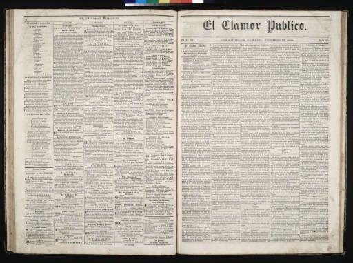 El Clamor Publico, vol. III, no. 33, Febrero 13 de 1858 :: El Clamor Publico Collection, 1855-1859