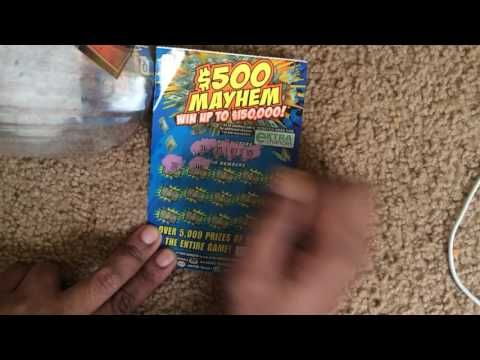 $5 dollars $500 Mayhem scratch  winner ticket from Va lottery? Guess how much did I win? - (More info on: https://1-W-W.COM/lottery/5-dollars-500-mayhem-scratch-winner-ticket-from-va-lottery-guess-how-much-did-i-win/)